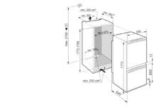 Встраиваемый холодильник с холодильной и морозильной камерами, зонами EasyFresh и SmartFrost Liebherr ICe 5103 Pure