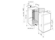 Встраиваемый холодильник с холодильной и морозильной камерами, зонами EasyFresh и SmartFrost Liebherr ICSe 5103 Pure