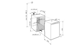 Встраиваемый холодильник с зоной свежести EasyFresh Liebherr IRf 3901 Pure